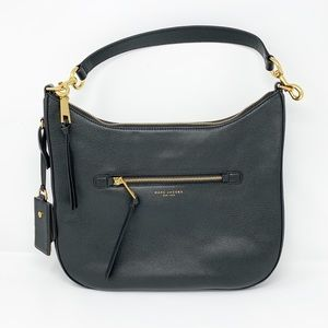 Marc Jacobs Recruit Black Leather Shoulder Bag